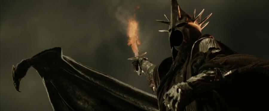 il Re Stregone di Angmar nell'adattamento cinematografico di Peter Jackson