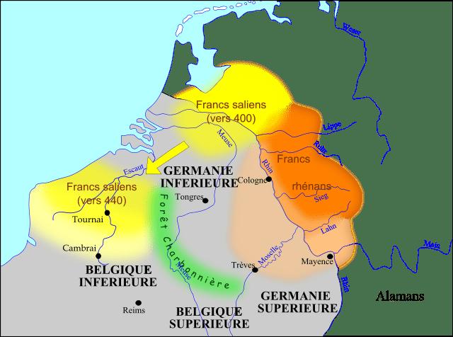 La penetrazione franca nell'impero tra 400 e 440.