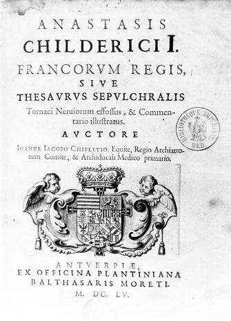 Frontespizio della relazione illustrata di Chiflet, 1655