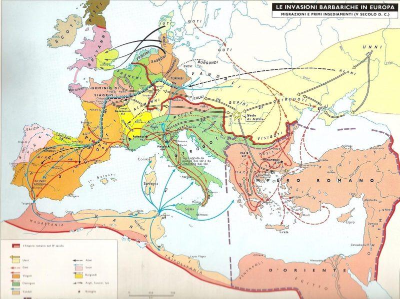 Dopo la presa del potere in Italia da parte di Odoacre ilREgno di Soissons o di Siagrio rimane un'isola circondata da un mare di barbari.