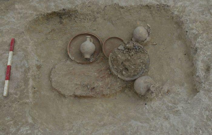 Lo scavo ha rivelato una serie di rari artefatti del VI secolo (Foto: Stephen Collins)