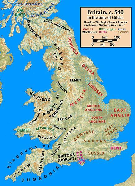 I regni anglosassoni e britanni come descritti dall' Anglo-Saxon Chronicle and Lloyd's History of Wales, Vol. I