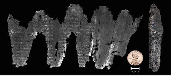 Il rotolo di En-Gedi ( Foto: Seales et al., Sci. Adv. 2:e1601247 (2016). )