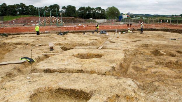 L'area dello scavo (Foto: DAVID WILSON HOMES)