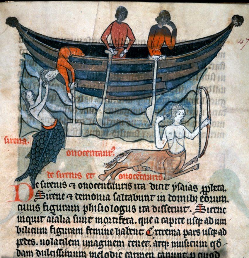 Bestiario contenuto nei Dicta Chrysostomi di Hugh di Fouilloy (1250 - 1300) MS 278 British Library