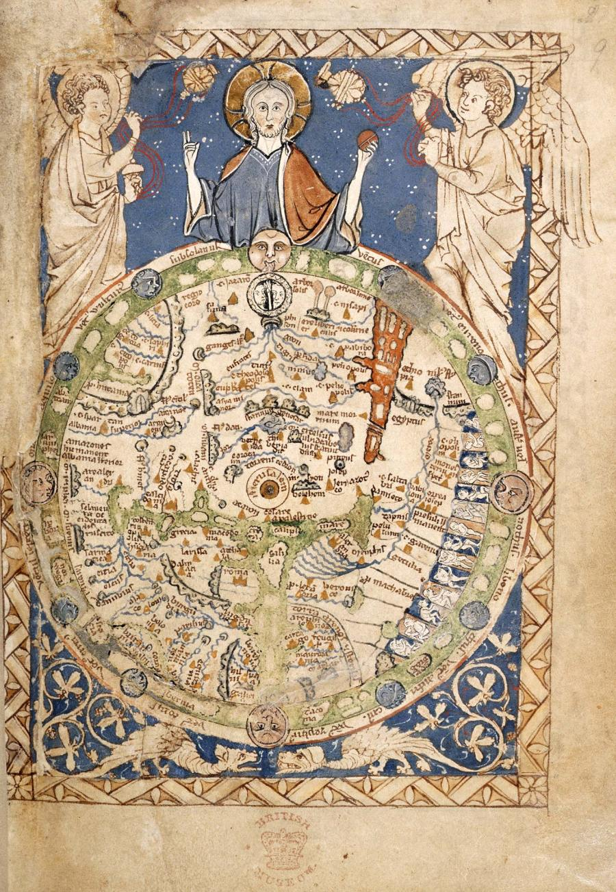 'The Map Psalter (circa 1260) MS 28681 British Library