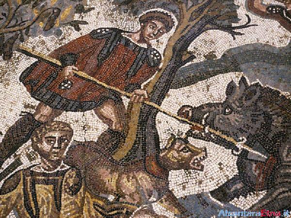 Particolare dei mosaici dalla Villa del Casale Piazza Armerina