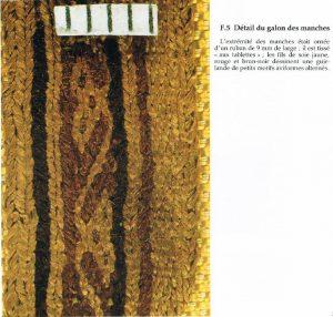 Dettaglio della passamaneria di Bertilla