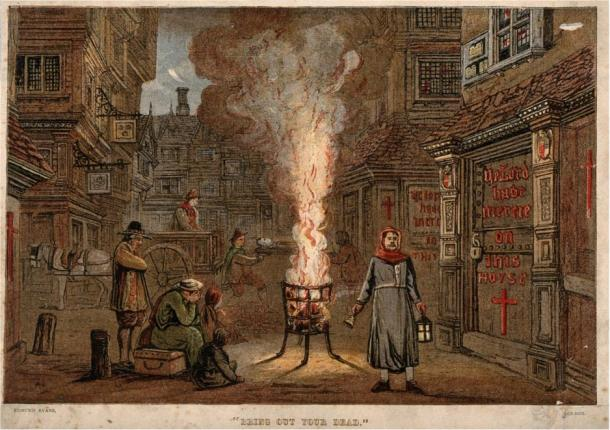 Una strada di Londra durante la peste del 1665-1666. (Immagine: Wellcome Images)