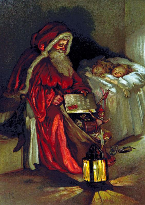 Illustrazione da pagina 6 del libro Old Father Christmas, British Library, 1888