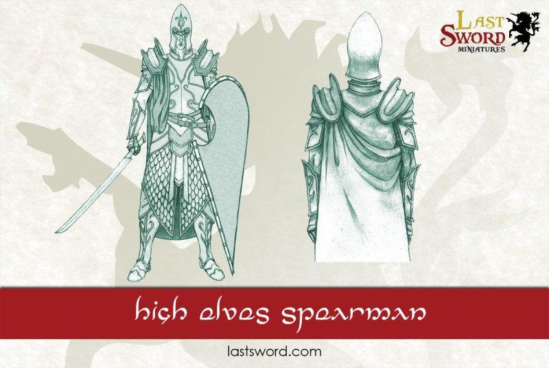 And Now Undeads! (kickstarter) Elf-Elven-Lords-Swordmen-Spearmen-Concept-Warhammer-08-1
