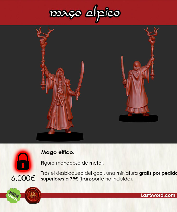 Kickstarter-Elven-Miniatures-Mage-Spanish