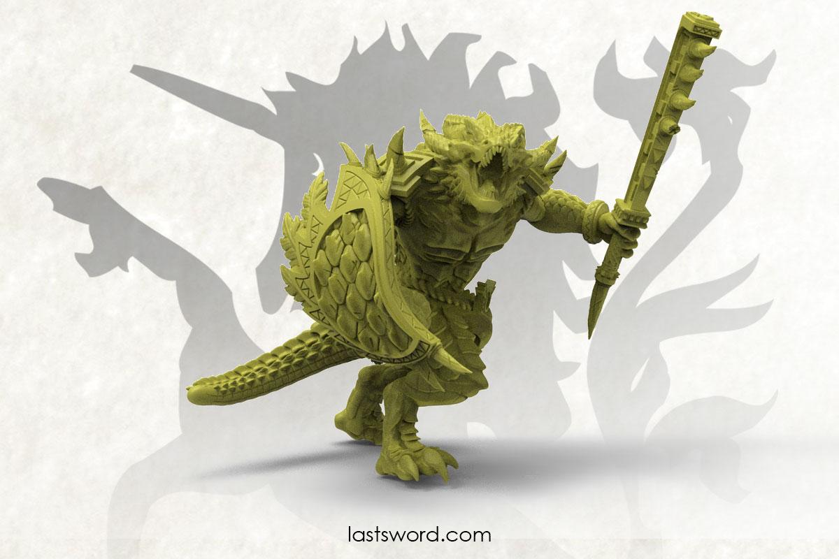 Saurio-Saurian-warrior-Handweapon-Lizarm