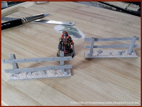Super-Sculpey-Clay-Masilla-Valla-Madera-Peana-Wooden-Fence-Base-Warhammer-Scenery-Escenografia-Wargame-12