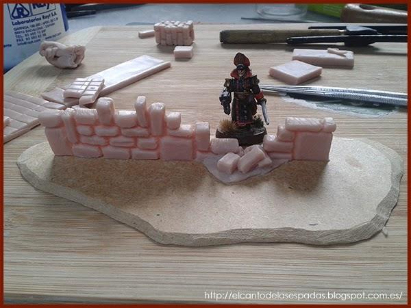 Piedra-Muro-Caído-Valla-Fence-Wall-Stone-Wargames-Warhammer-Escenografia-Scenery-Wargames-04-SuperSculpey-Clay