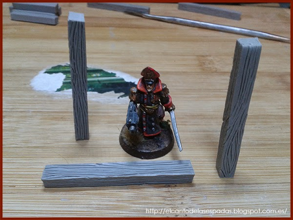 Super-Sculpey-Firm-Madera-Wood-Stable-Stall-Establo-Escenografía-1650-Warhammer-Mordheim-Scenery-07
