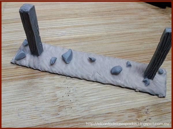 Super-Sculpey-Clay-Masilla-Valla-Madera-Peana-Wooden-Fence-Base-Warhammer-Scenery-Escenografia-Wargame-09