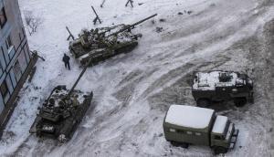 танки в Авдеевке, обстрелы на Донбассе, конфликт на Украине