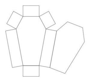 Схема гробика из бумаги, как сделать гроб из бумаги, как сделать бутафорский гроб схема