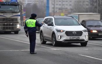 На всех въездах в Москву появились наряды полицейских