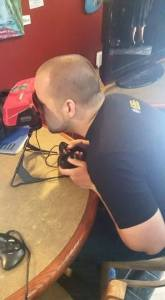 Jake playing a real, actual Virtual Boy. Be jealous. Or not.