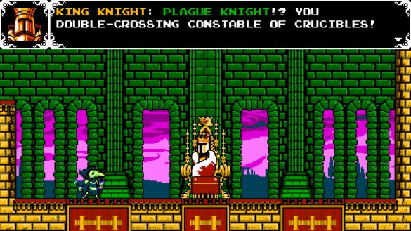 Look at that sweet interaction! Did Shovel Knight have that? Didn't think so!