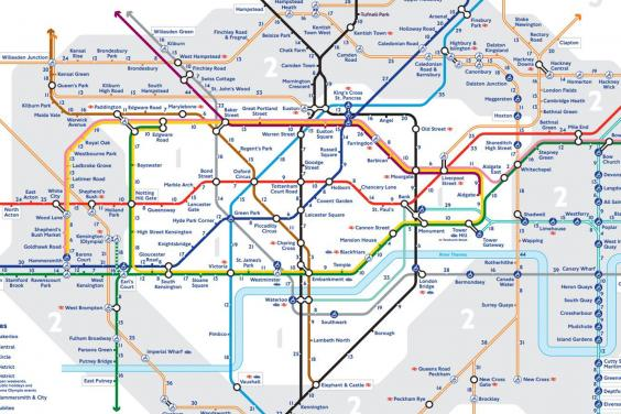 Transport For London Zone Map.Tfl S Walk The Tube Map Shows Walking Distance Between