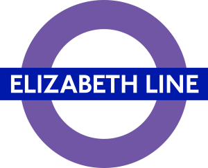 Elizabeth line roundel - First purple Elizabeth Line Tube roundels installed at stations across London