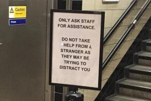 marblearch0802a - 'Seriously depressing' TfL sign leaves London Tube commuters downhearted