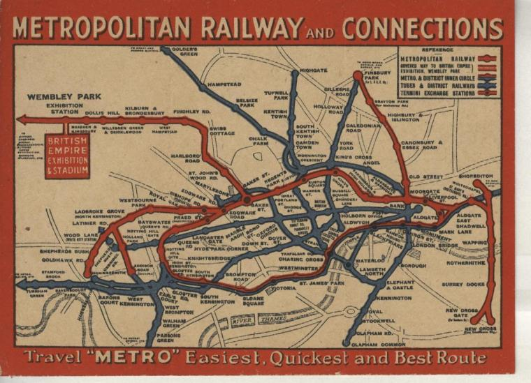 maps 4 1024x740 - Remarkable old Tube maps show how London Underground network has changed over the past 100 years