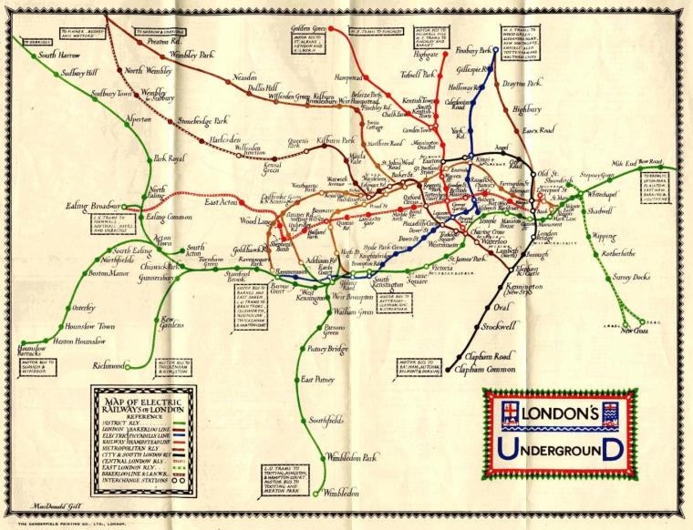 maps 8 1024x784 - Remarkable old Tube maps show how London Underground network has changed over the past 100 years