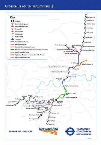 rer crossrail 2 route autumn 2015 - Why doesn't London build an RER network, like Paris did?