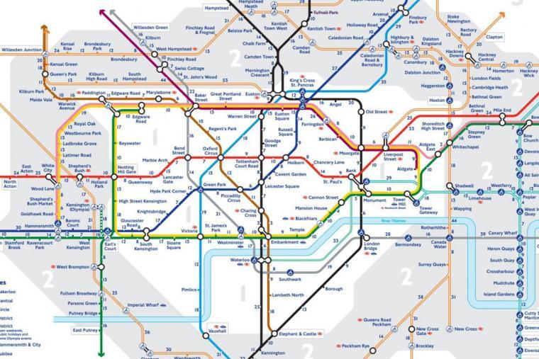 walk the tube map 1024x683 - The 'Walk the Tube' maps