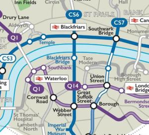 cyclewaymapbappz - London Tube map app now also offers a cycle map