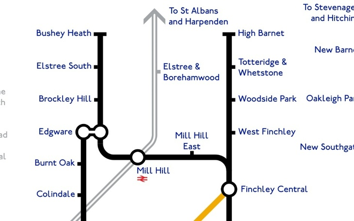 north3 - A Tube Map That Never Happened, Based On Plans From The 1940s