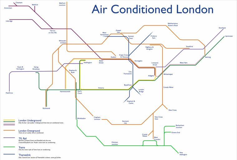 aclondonbig 1024x691 - This Tube Map Shows Which Lines Are Air-Conditioned