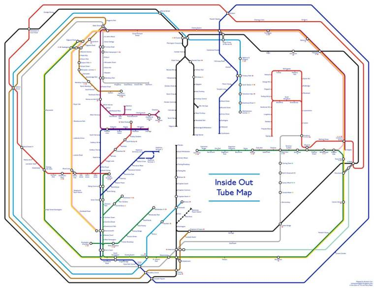 Inside Out London Underground Tube Map 1024x789 - Londoner creates 'fascinating' - but ultimately completely 'pointless' - inside out Tube map