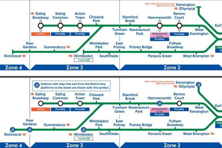 districtline 1024x683 - Revealed: TfL Tube maps from the last two decades show how the London Underground lines have evolved