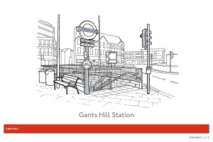 40 gants hill station illustration - Someone Has Illustrated 82 Of The Underground's Prettiest Stations