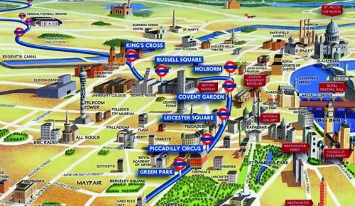 5279503909 f005e0b6b0 b - Above Ground - Overground Underground Piccadilly Line Visual Map