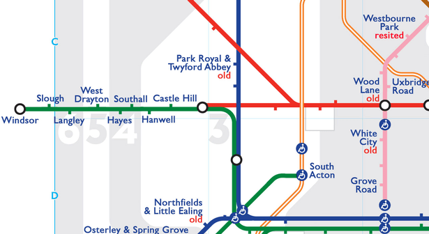 0 Windsor district - The London Underground's secret stations have been revealed in this map