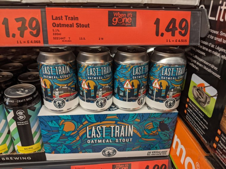 Fourpure Last Train Oatmeal Stout Beer from Lidl shelf 1024x768 - Fourpure Last Train Oatmeal Stout Beer from Lidl