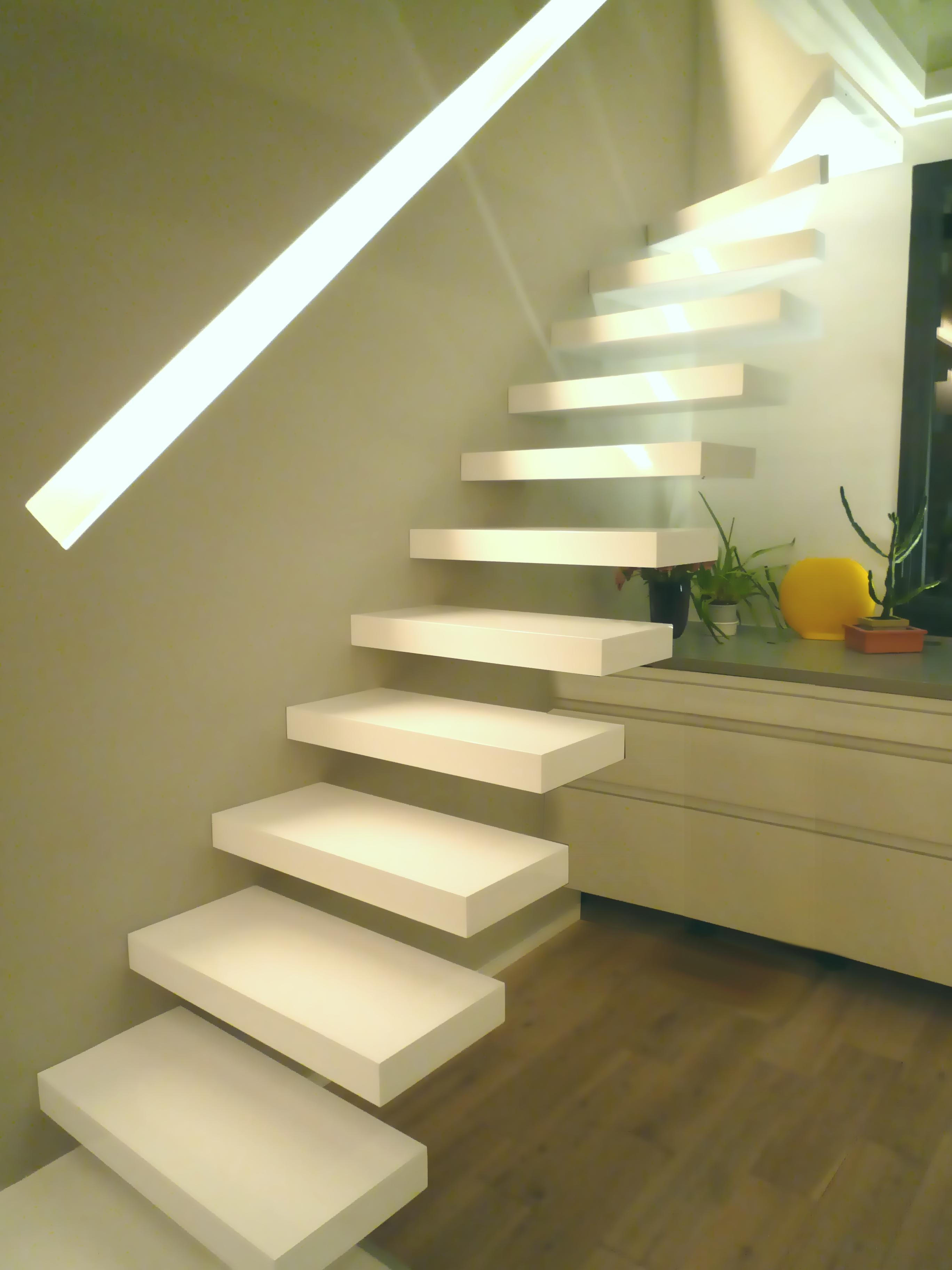 escalier flottant  La Stylique