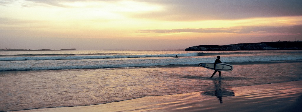 PRINT 37X100 SURFER SUNSET s