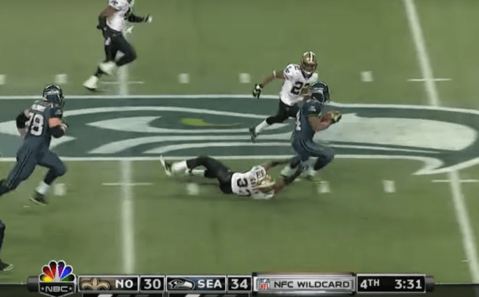 Marshawn Lynch et son Beast Quake contre les New Orleans Saints