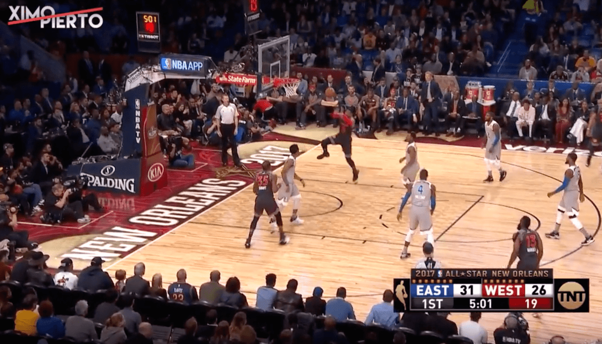 Le alley-oop entre Kevin Durant et Russell Westbrook