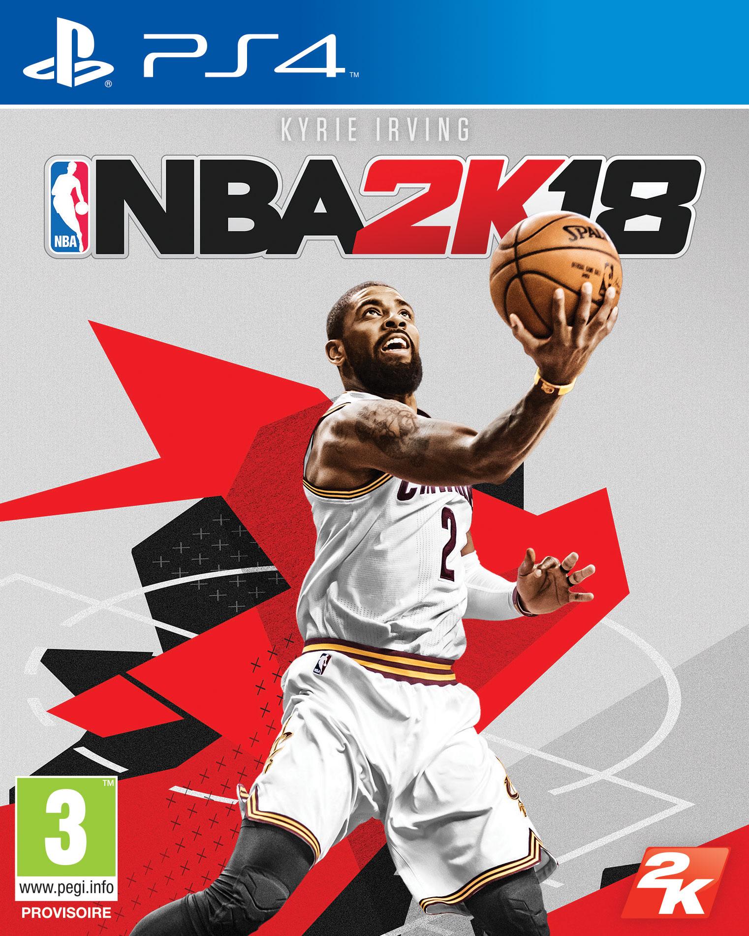 Kyrie Irving en couverture de NBA 2K18 !