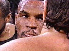 Mike Tyson staredown