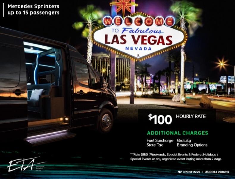 Merecedes Sprinter Rental Las Vegas with Driver3