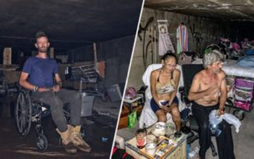Las Vegas homeless living in tunnels